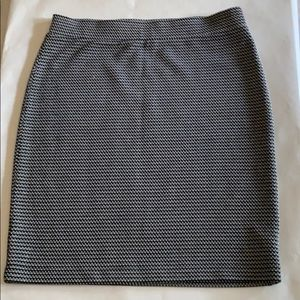 Loft Outlet Pencil Skirt Gray Black Size Small
